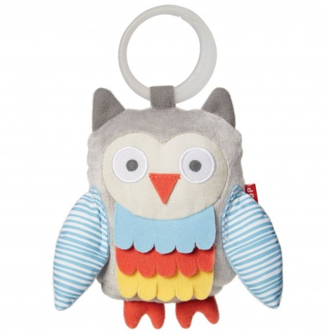 Skip Hop Treetop Friends Wise Owl Stroller Toy - Grey / Pastel