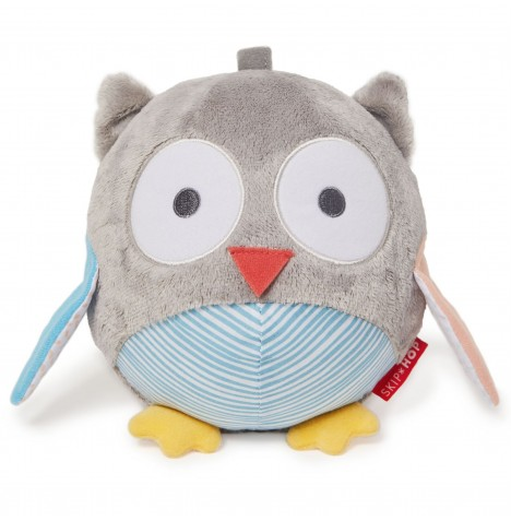 Skip Hop Treetop Friends Chime Ball Owl Toy - Grey / Pastel
