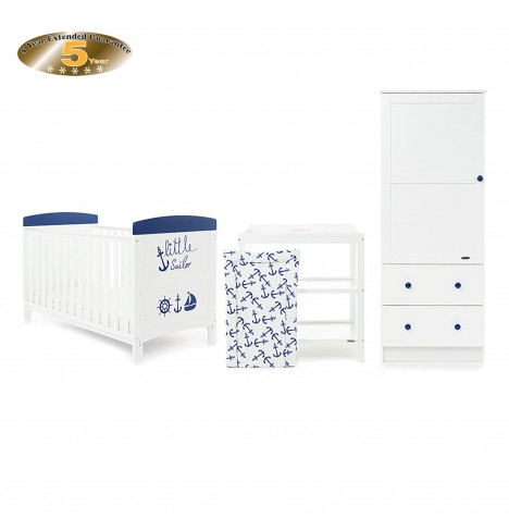 Obaby Grace Inspire 3 Piece Room Set - Little Sailor