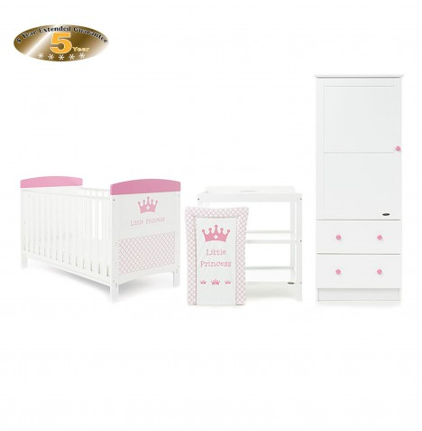 Obaby Grace Inspire 3 Piece Nursery Room Set - Little Princess