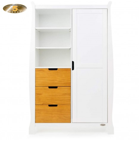 Obaby Stamford Wardrobe - White / Country Pine