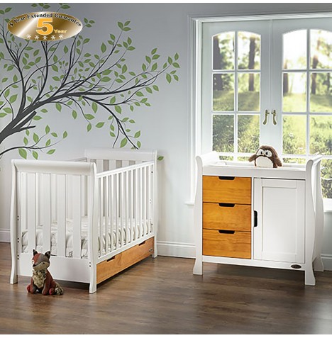 Obaby Stamford Mini 2 Piece Room Set - White / Country Pine