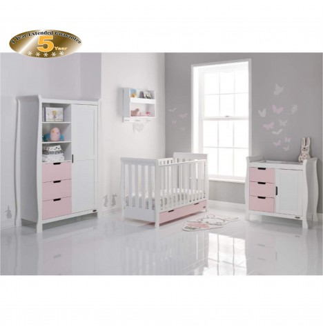 Obaby Stamford Mini 4 Piece Room Set - White / Eton Mess