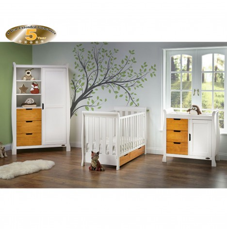 Obaby Stamford Mini 4 Piece Room Set - White / Country Pine