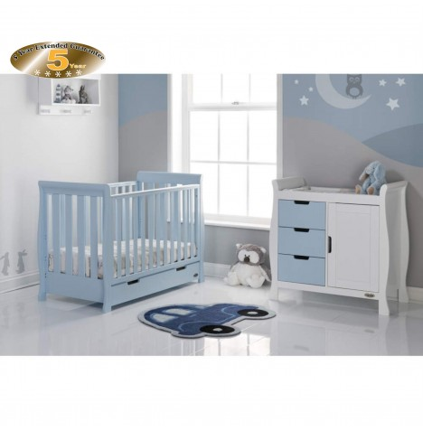 Obaby Stamford Mini 2 Piece Room Set - Bonbon Blue / White