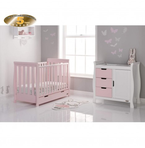 Obaby Stamford Mini 2 Piece Room Set - Eton Mess / White