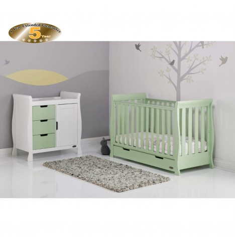Obaby Stamford Mini 2 Piece Room Set - Pistachio / White