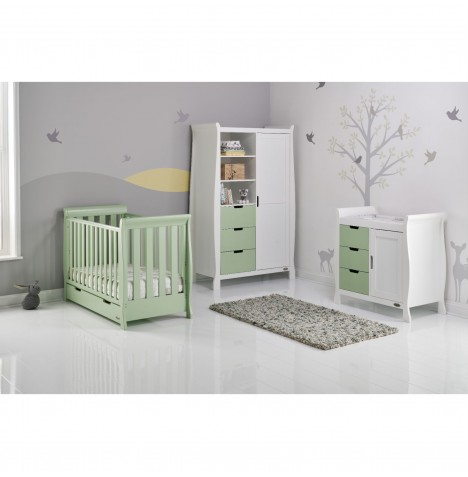 Obaby Stamford Mini 4 Piece Room Set - Pistachio / White