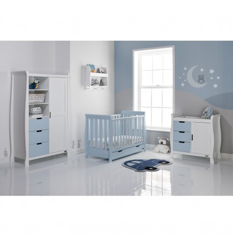 Obaby Stamford Mini 4 Piece Room Set - Bonbon Blue / White