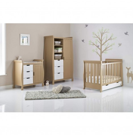 Obaby Stamford Mini 4 Piece Room Set - Iced Coffee / White