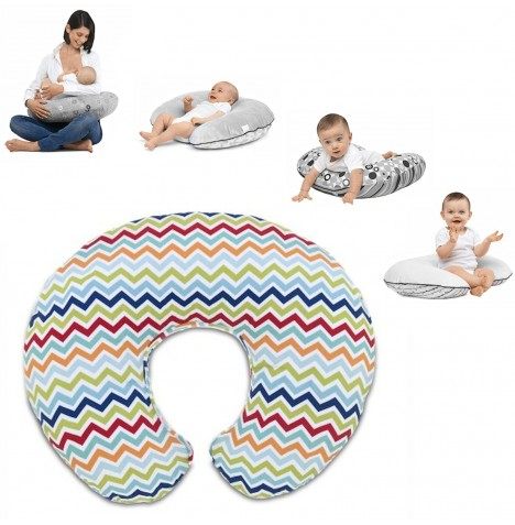 Chicco Boppy Baby Feeding And Nursing Pillow With Cotton Slip Cover - Chevron..