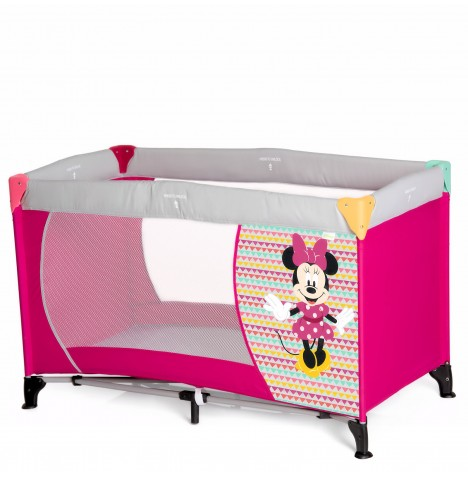 Hauck Deluxe Dream n Play Travel Cot / Playpen - Minnie Geo Pink