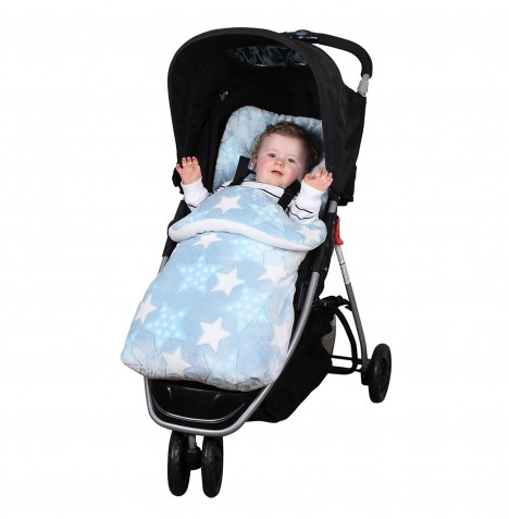 Clair De Lune Star Pushchair Footmuff - Blue