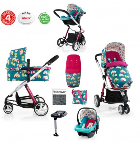 Cosatto Giggle 2 Travel System & Isofix Base - Happy Campers