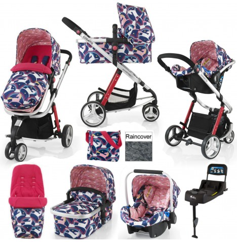Cosatto Giggle 2 Travel System & Isofix Base - Magic Unicorns