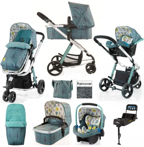 Cosatto Giggle 2 Travel System & Isofix Base - Fjord