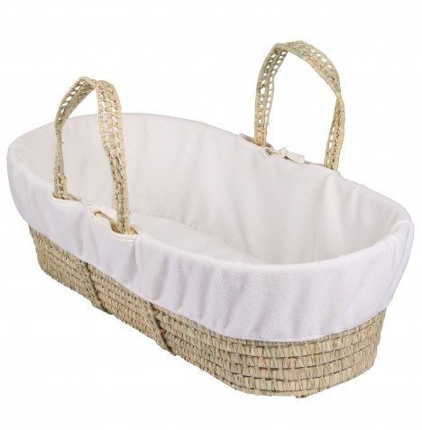 Clair De Lune Fleece Moses Basket Liner - Cream