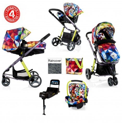 Cosatto Woop Travel System & Isofix Base - Spectroluxe