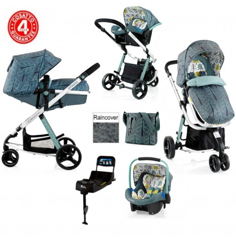 Cosatto Woop Travel System & Isofix Base - Fjord