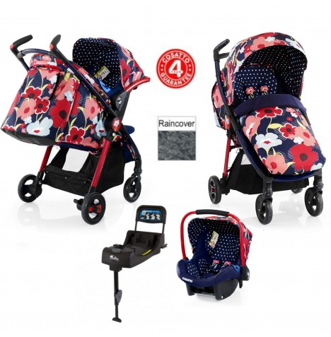 Cosatto Fly Travel System & Isofix Base - Proper Poppy