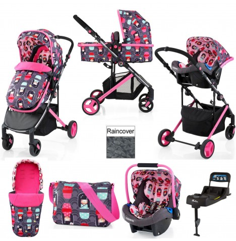 Cosatto Wish Travel System & Isofix Base - Kokeshi Smile