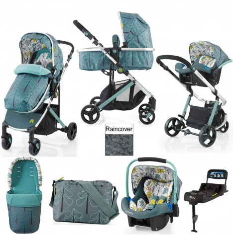 Cosatto Wish Travel System & Isofix Base - Fjord