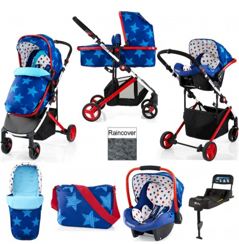 Cosatto Wish Travel System & Isofix Base - Starbright
