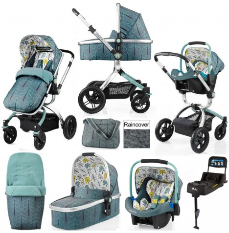 Cosatto Ooba Travel System & Isofix Base - Fjord