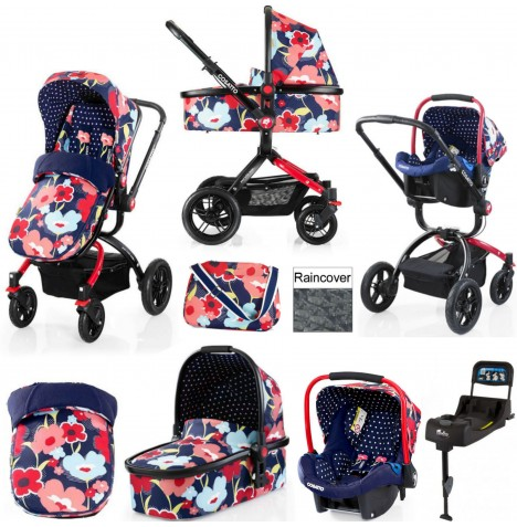 Cosatto Ooba Travel System & Isofix Base - Proper Poppy