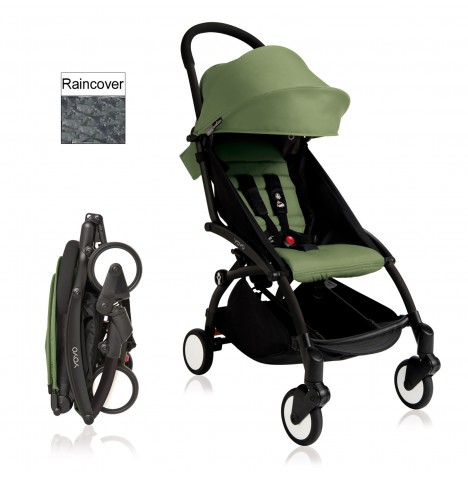 Babyzen YoYo+ Pushchair 6mth+ Package - Black / Peppermint