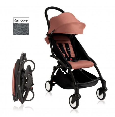Babyzen YoYo+ Pushchair 6mth+ Package - Black / Ginger