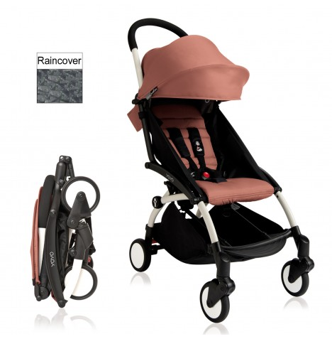 Babyzen YoYo+ Pushchair 6mth+ Package - White / Ginger
