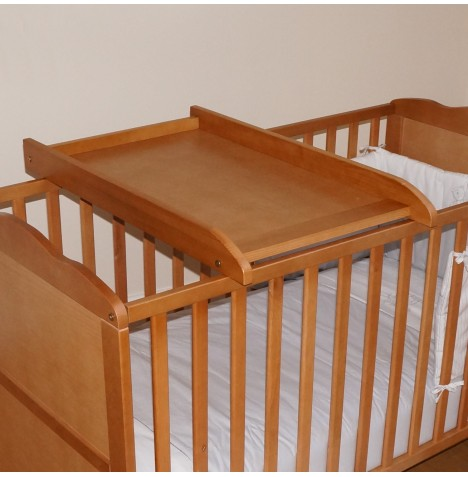 new 4baby country pine wood cot cotbed top changer baby. Black Bedroom Furniture Sets. Home Design Ideas