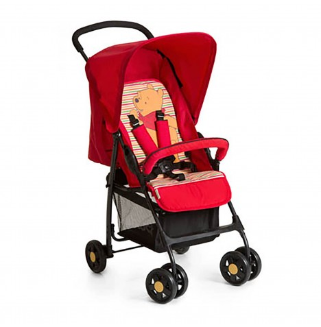 Hauck Disney Sport Pushchair - Pooh Spring Brights Red..