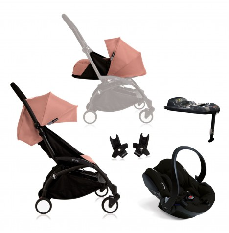 Babyzen Yoyo+ Newborn Travel System - Black / Ginger