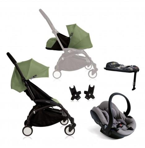 Babyzen Yoyo+ Newborn Travel System - Black / Peppermint
