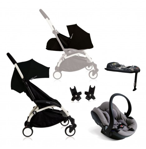 Babyzen Yoyo+ Newborn Travel System - White / Black