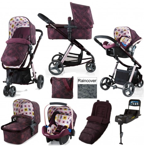Cosatto Giggle 2 Travel System & Isofix Base - Posy