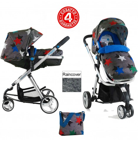 Cosatto Woop 2in1 Pram / Pushchair - Grey Megastar