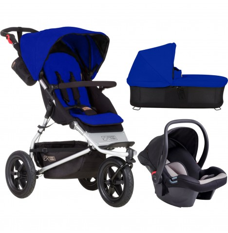 Mountain Buggy Urban Jungle Travel System & Carrycot - Marine
