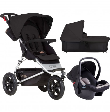 Mountain Buggy Urban Jungle Travel System & Carrycot - Black