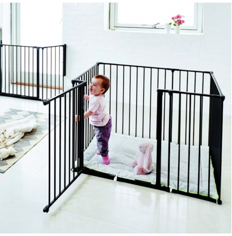 f67d1b73d NEW BABYDAN BLACK METAL SQUARE BABYDEN   PARK-A-KID PLAYPEN   URBAN ...