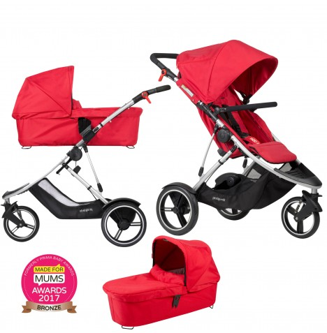 Phil & Teds Dash Pushchair & Carrycot - Red