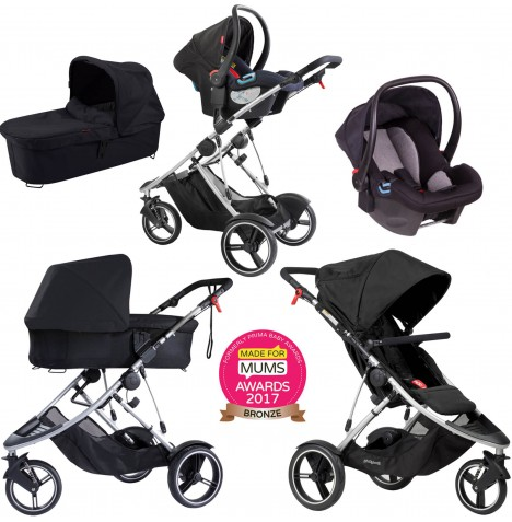 Phil & Teds Dash Travel System & Carrycot - Black
