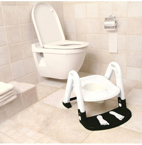 Babydan 3 in 1 Kids Seat Toilet Trainer - Black / White