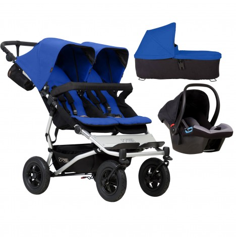 Mountain Buggy Duet V3 Travel System & Carrycot - Marine