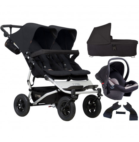 Mountain Buggy Duet V3 Travel System & Carrycot - Black