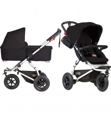 Mountain Buggy Swift Pushchair & Carrycot - Black