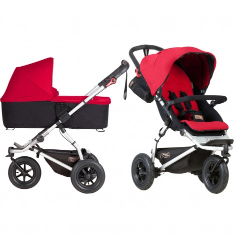 Mountain Buggy Swift Pushchair & Carrycot - Berry