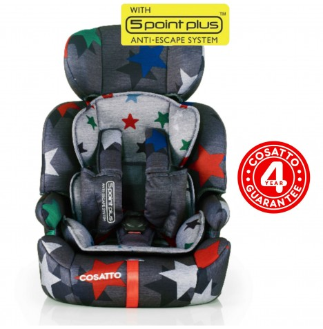 Cosatto Zoomi Group 123 Car Seat - Grey Megastars